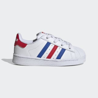 Superstar Schuh Cloud White / Blue / Team Collegiate Red FV3691