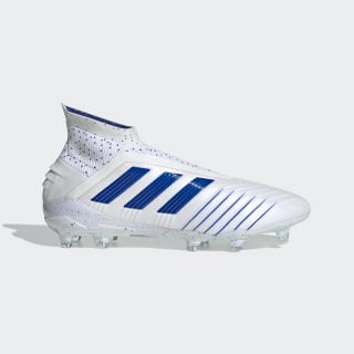 Bota de fútbol Predator 19+ césped natural seco Ftwr White / Bold Blue / Bold Blue BC0548