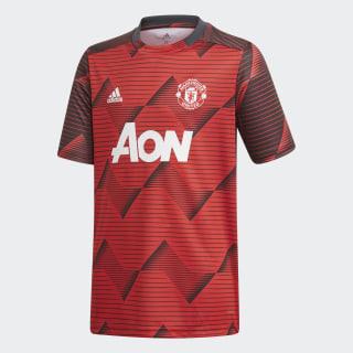 Manchester United opvarmningstrøje Collegiate Red / Solid Grey EI9871