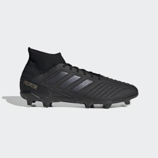 Botas de Futebol Predator 19.3 – Piso firme Core Black / Core Black / Gold Met. F35594