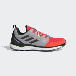 Terrex Agravic Trail Running Shoes Solar Red / Core Black / Grey Two EF2121
