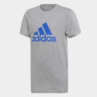 Camiseta Essentials Logo Medium Grey Heather / Blue DJ1775