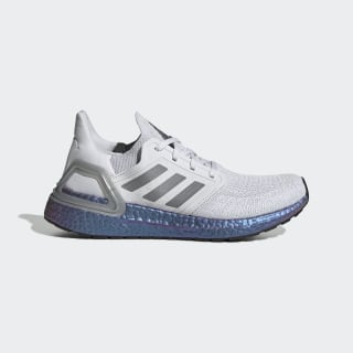 Scarpe Ultraboost 20 Dash Grey / Grey Three / Boost Blue Violet Met. EG1369