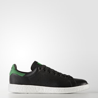 Stan Smith Boost Shoes Core Black/Core Black/Green BZ0527