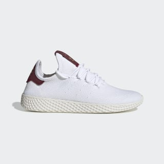 Pharrell Williams Tennis Hu Shoes Cloud White / Cloud White / Collegiate Burgundy D96443