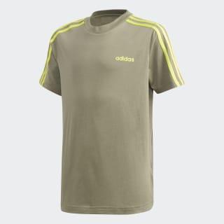 Camiseta 3 Rayas Essentials Legacy Green / Semi Solar Slime FM7031