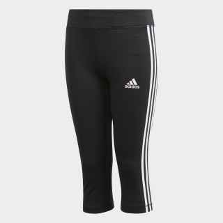 Calça Legging Equipment 3-Stripes 3/4 Black / White DV2760