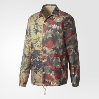 Hommes Pharrell Williams Hu Hiking Camo Coach Jacket Multicolor / Hemp CY7864