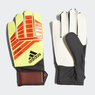 Predator Junior Gloves Solar Red / Solar Yellow / Black CW5605