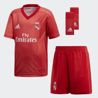 Miniconjunto tercera equipación Real Madrid Real Coral / Vivid Red DP5447