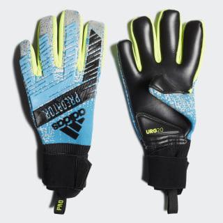 Brankárske rukavice Predator Pro Bright Cyan / Silver Met. / Solar Yellow / Black DY2595