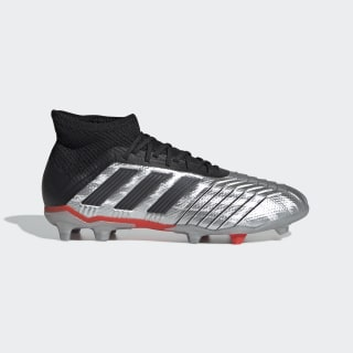 Bota de fútbol Predator 19.1 césped natural seco Silver Met. / Core Black / Hi-Res Red G25790