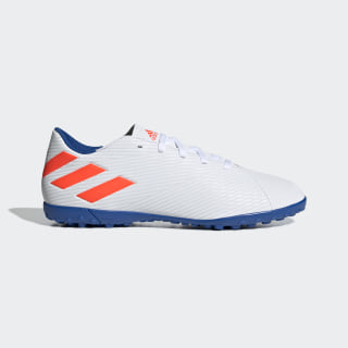 Chuteira Nemeziz Messi 19.4 Society ftwr white/solar red/football blue F34549