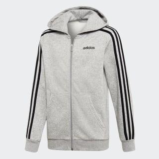 Mikina skapucňou Essentials 3-Stripes Medium Grey Heather / Black DV1802