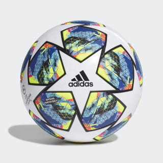 Pelota Finale Oficial Top:white/bright cyan/solar yellow/shock pink Bottom:COLLEGIATE ROYAL/BLACK/SILVER MET. DY2560