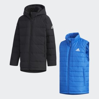 Куртка 2 в 1 black / white EH4161