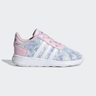 Tênis Lite Racer Clear Pink / Cloud White / Real Blue EE8567