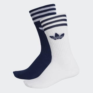 Solid Crew Socks 2 Pairs Multicolor / White DW3936
