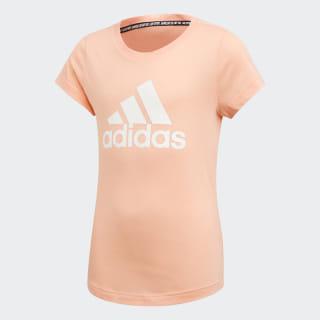 Camiseta Mh Bos Yg glow pink/white ED4606