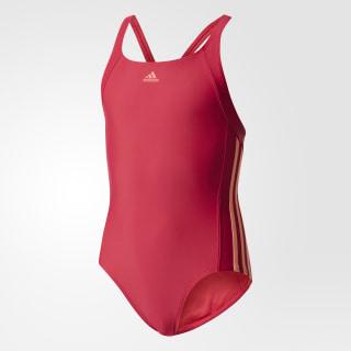 Слитный купальник Essence Core 3-Stripes Youth energy pink f17 / sun glow BS0333