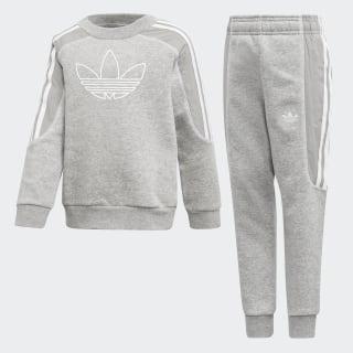 Radkin Crewneck Sweatshirt Set Medium Grey Heather / White DV2863
