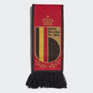 Belgien Heimschal Collegiate Red / Black / Bright Yellow FJ0936