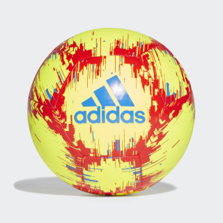 Ballon adidas Capitano Solar Yellow / Football Blue / Active Red DN8733