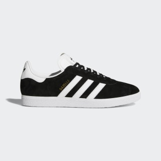 Кроссовки Gazelle core black / white / gold met. BB5476