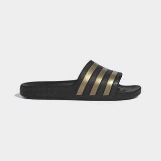 Sandalias Adilette Aqua Core Black / Gold Metallic / Core Black EG1758