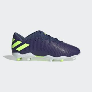 Bota de fútbol Nemeziz Messi 19.3 césped natural seco Tech Indigo / Signal Green / Glory Purple EF1814