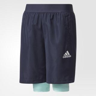 Pantaloneta Dos-en-Uno Football LEGEND INK F17/ENERGY AQUA F17/WHITE CE9211