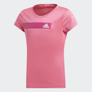Remera Training Cool Semi Solar Pink / White DV2738