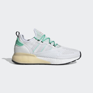 ZX 2K Boost Shoes Crystal White / Grey One / Hi-Res Green FX4172