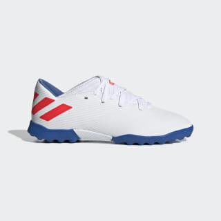 Zapatilla de fútbol Nemeziz Messi 19.3 moqueta Ftwr White / Solar Red / Football Blue F99930
