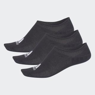 Три пары носков Performance Invisible black CV7409