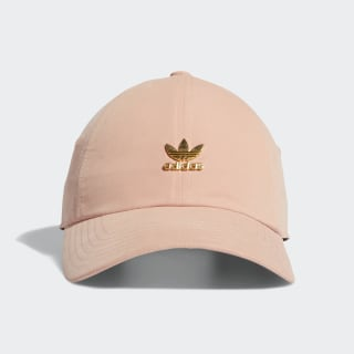 Relaxed Metal Strap-Back Hat Pink CK4995