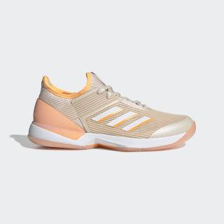Adizero Ubersonic 3 Shoes Linen / Cloud White / Flash Orange EF1155