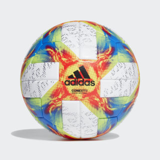 Conext 19 European Qualifiers Official Game Ball White / Solar Yellow / Solar Red / Football Blue DU6970