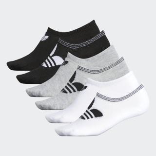 Trefoil No-Show Socks 6 Pairs White CJ7666
