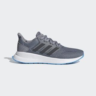 Runfalcon Shoes Grey Three / Grey Six / Shock Cyan F36539