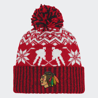 Blackhawks Ugly Sweater Cuffed Pom Beanie Nhlcbh CY4142