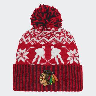 Bonnet Blackhawks Ugly Sweater Cuffed Pom Nhlcbh CY4142