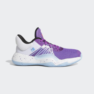 D.O.N. Issue #1 Shoes Active Purple / Cloud White / Glow Blue EH2443