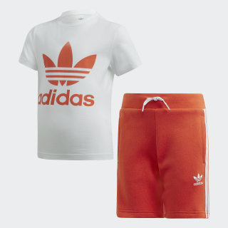 Trefoil Shorts Tee Set Multicolor / Active Orange DW9708
