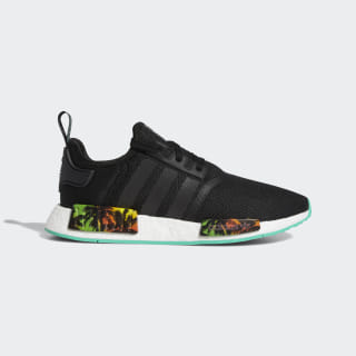 NMD_R1 Shoes Core Black / Hi-Res Green / Blue EF2330