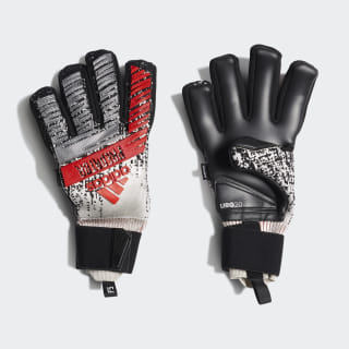 Guantes portero Predator Pro Fingersave Silver Met. / Black / Hi-Res Red DY2599