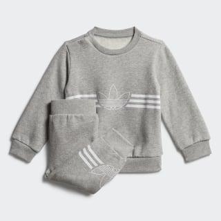 Комплект: джемпер и брюки Outline medium grey heather / white ED8664
