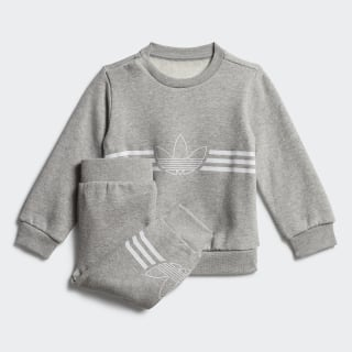 Outline Crewneck Set Medium Grey Heather / White ED8664
