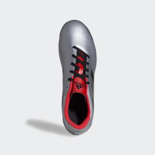 Chuteira Artilheira III Futsal Silver Metallic / Core Black / Hi-Res Red EF0735