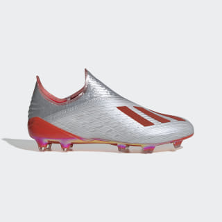 X 19+ Firm Ground Cleats Silver Metallic / Hi-Res Red / Cloud White F35322
